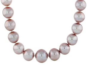 Cultured Freshwater Pearl 14k Yellow Gold Necklace 11-15mm