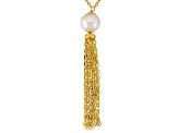 Cultured Freshwater Pearl Tassel Necklace 8-9mm