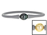 Golden Cultured South Sea & Tahitian Pearl Silicone Bracelet 10mm