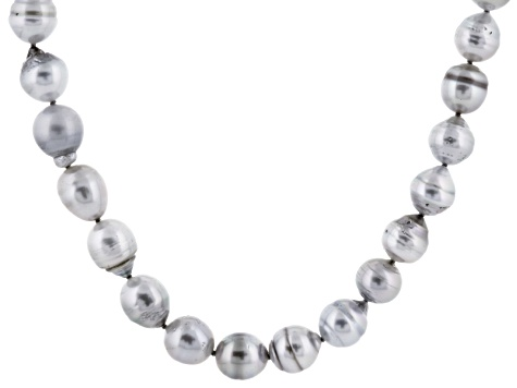 Cultured Tahitian Pearl Necklace 9-11mm