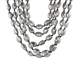 Cultured Freshwater Pearl With Hematine Rhodium Over Silver Necklace