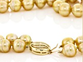 Cultured South Sea Pearl 14k Yellow Gold Necklace 10-12mm