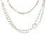 Cultured Freshwater Pearl Necklace Rhodium Over Sterling Silver Shortener