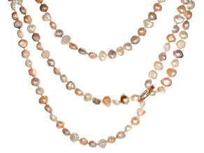Cultured Freshwater Pearl With Rhodium Over 18k Yellow,Rose Gold Over Silver Shorteners