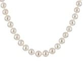 Cultured Freshwater Pearl Rhodium Over Silver Necklace 12-13mm