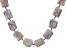 Cultured Freshwater Pearl and Hematine 18k Rose Gold Over Silver Strand Necklace 15-18mm