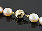 Cultured Freshwater Pearl And Tahitian Pearl 14k Yellow Gold Necklace 9-10mm
