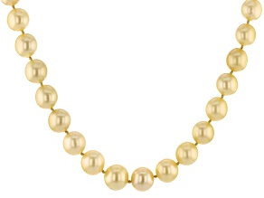 Cultured South Sea Pearl 14k Yellow Gold Necklace 9-12mm