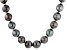 Cultured Tahitian Pearl Rhodium Over Sterling Silver Necklace 15-18mm