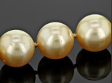 Cultured South Sea Pearl 14k Yellow Gold Necklace 13-14mm