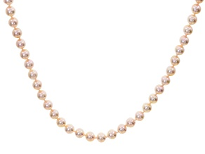 Cultured Japanese Akoya Pearl 14k Yellow Gold Necklace 6.5-7mm