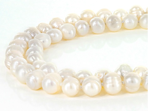 9-11mm Cultured Freshwater Pearl Endless Strand Set Of 2,