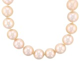 Cultured Freshwater Pearl Rhodium Over Silver Necklace 11.5-13.5mm