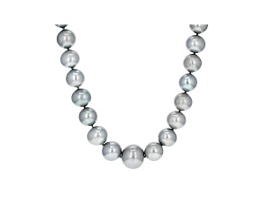 Silver Cultured Freshwater Pearl Rhodium Over Sterling Silver Necklace 12-13mm