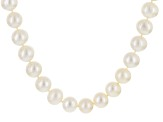 Cultured Freshwater Pearl Rhodium Over Sterling Silver Necklace 12-13mm