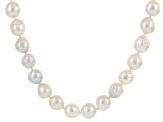 Cultured Freshwater Pearl Rhodium Over Silver Necklace 12-14mm
