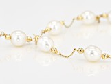 Cultured Freshwater Pearl 14k Yellow Gold Necklace 8-9mm
