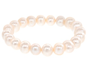 Cultured Freshwater Pearl Stretch Bracelet 9.5-10.5mm