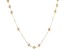 Cultured Freshwater Pearl 10k Yellow Gold Necklace 5-6mm