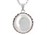Cultured Freshwater Pearl Rhodium Over Silver Pendant With Chain 16mm