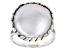 Cultured Freshwater Pearl Rhodium Over Silver Ring 16mm