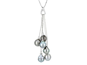 Cultured Tahitian Pearl Sterling Silver Pendant 8mm