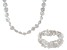 White Cultured Freshwater Pearl Endless Necklace And Stretch Bracelet Set 8-9mm