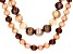 Cultured Freshwater Pearl Rhodium Over Silver Necklace Set 8-12mm