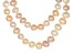 Cultured Freshwater Pearl Rhodium Over Silver Necklace Set 8-10mm
