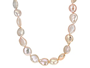 Multi-Color Cultured Freshwater Pearl Endless Strand Necklace 12-13mm