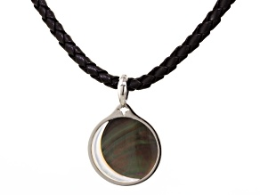 Mother Of Pearl Pendant Rhodium Over Sterling Silver Pendant
