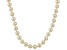 White Cultured Freshwater Pearl 14k Yellow Gold Strand Necklace 5-6mm
