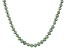 Green Cultured Freshwater Pearl Rhodium Over Sterling Silver Necklace 5-6mm