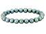 Sea Green Cultured Freshwater Pearl Stretch Bracelet 8-9mm