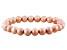 Pink Cultured Freshwater Pearl Stretch Bracelet 8-9mm