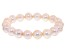 Plum Cultured Freshwater Pearl Stretch Bracelet 10-11mm
