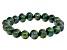 Green Cultured Freshwater Pearl Stretch Bracelet 10-11mm