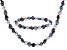 Multi-Color Cultured Freshwater Pearl Necklace, Bracelet Set 7-8mm