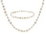 White Cultured Freshwater Pearl Necklace And Bracelet Set 7-8mm