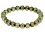 Olive Green Cultured Freshwater Pearl Stretch Bracelet 8-9mm