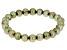 Kiwi Cultured Freshwater Pearl Stretch Bracelet 8-9mm