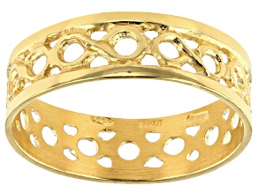 18K Yellow Gold Over Sterling Silver Infinity Ring