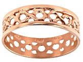 18K Rose Gold Over Sterling Silver Infinity Ring