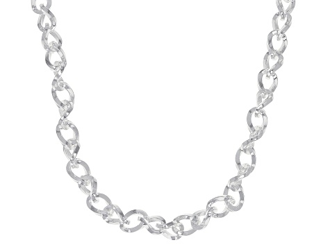Sterling Silver 4mm Cable Link Chain Necklace 18 Inches
