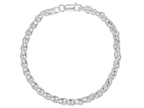 Sterling Silver Wheat Chain Bracelet 8 Inch