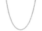Sterling Silver Diamond Cut Criss Cross Chain Necklace 20 Inch