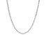 Sterling Silver Diamond Cut Criss Cross Chain Necklace 24 Inch