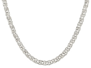 Sterling Silver Byzantine Hollow Necklace 20 inches.