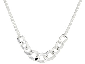 Sterling Silver Curb Necklace 20 Inches In Length Made in Italy