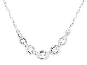 Sterling Silver Oval Rolo Necklace 20 inches in length